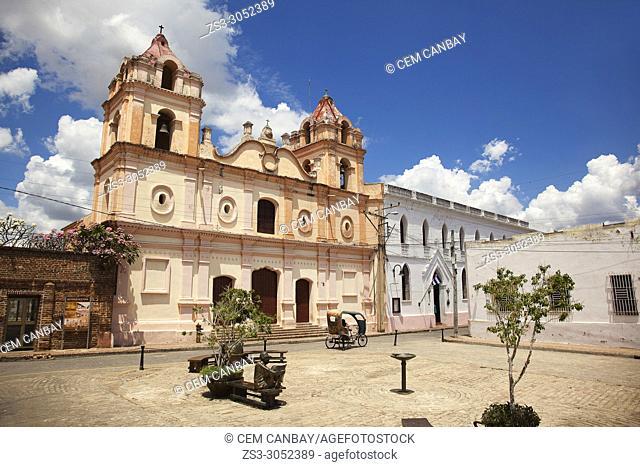View to the Carmen Church-Iglesia de Nuestra Senora del Carmen at the historic center, Camagüey, Cuba, West Indies, Central America