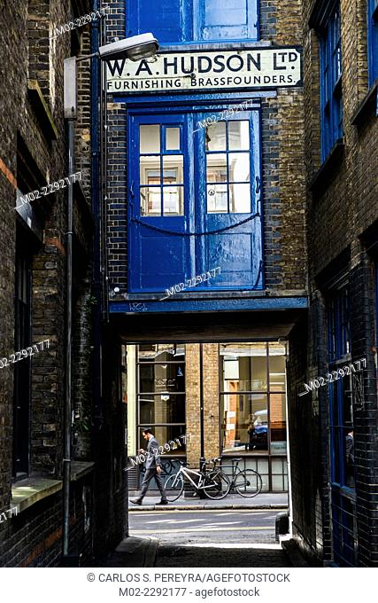 Shoreditch and Hoxton neighborhood in London, United Kingdom, Europe