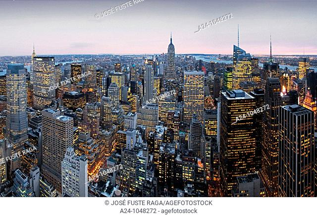 Panorama of Midtown Manhattan, New York City, USA