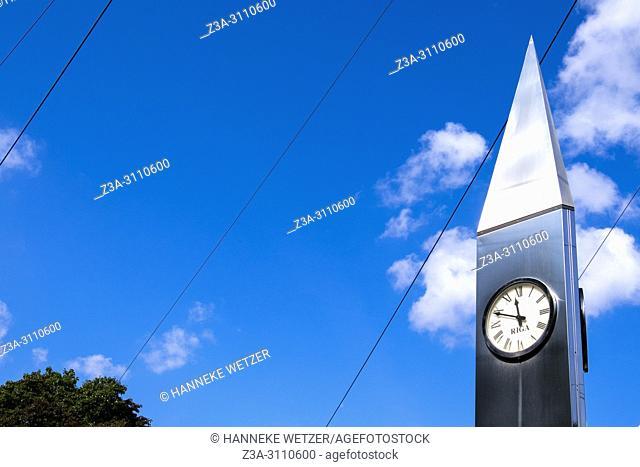 Clock in Riga, Latvia, Europe