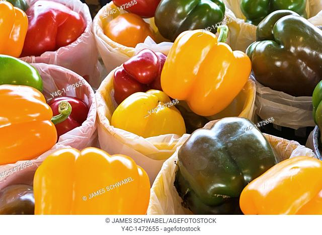 Fresh Bell Peppers at Public Market in Rochester New York