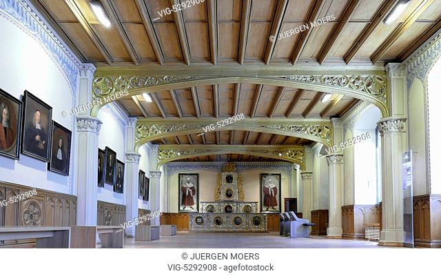 24.05.2015, Germany, Wittenberg, Augusteum large auditorium residential house MARTIN LUTHER family . - Wittenberg, Germany, 24/05/2015