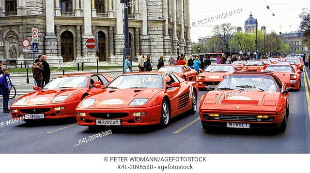 Burgtheater, Ferrari rally, Austria, Vienna