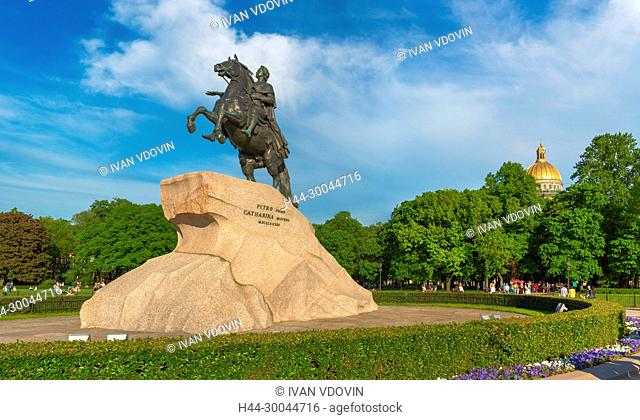 Bronze Horseman, equestrian statue of Peter the Great, Saint Petersburg, Russia