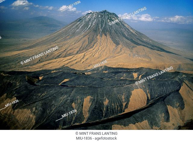 Ol Doinyo Lengai, an aerial view of the volcano, Tanzania