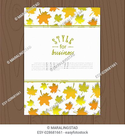 Vector corporate identity template with autumn leafs. Eps10