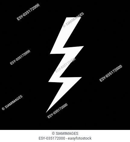 Lightning icon illustration design
