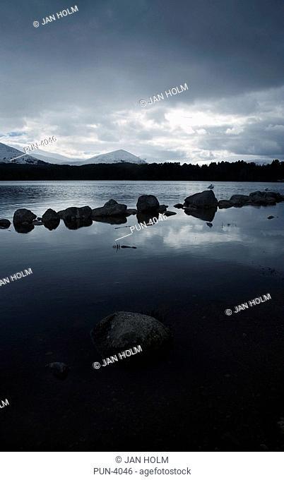 Quiet tranquil morning on Loch Morlich, Cairngorm National Park