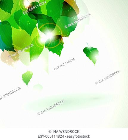 Abstract green foliage with light effects