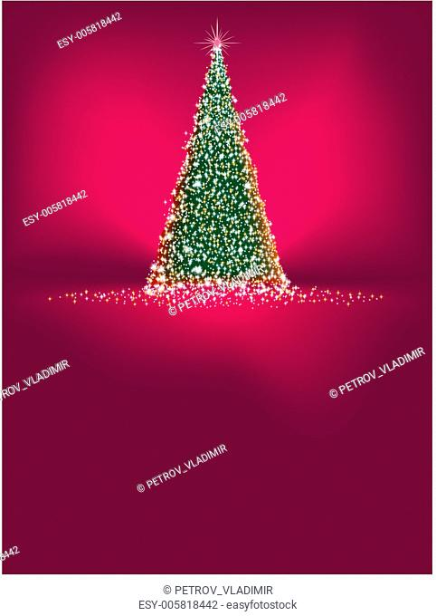 Beautiful winter card with tree. EPS 8
