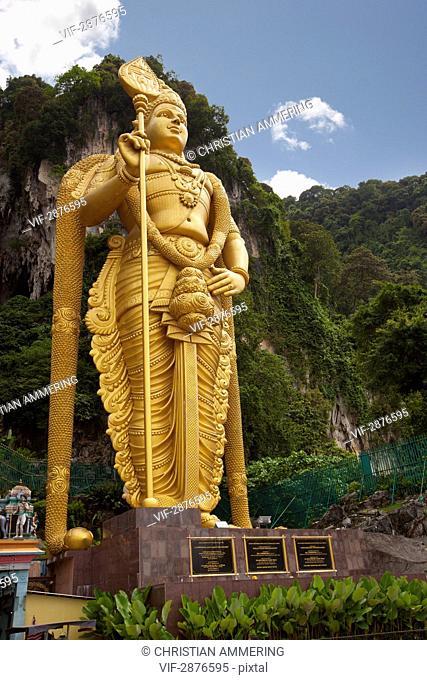 MALAYSIA, KUALA LUMPUR, 11.11.2010, Statue of Murugan in front of Batu caves - KUALA LUMPUR, MALAYSIA, 11/11/2010
