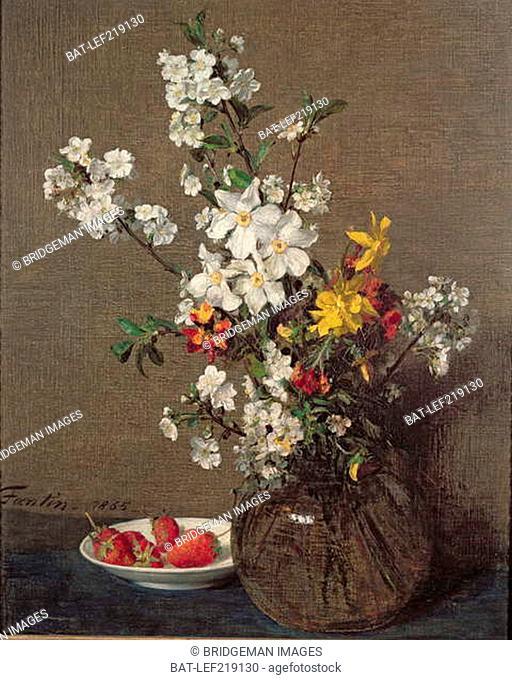 Spring Bouquet, 1865 (oil on canvas), Fantin-Latour, Ignace Henri Jean (1836-1904) / Private Collection / Photo © Lefevre Fine Art Ltd