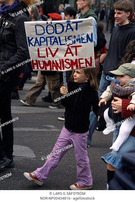 People in the protest march