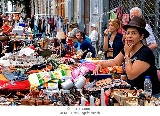 Buenos Aires Argentina San Telmo Town City Street Flea Market