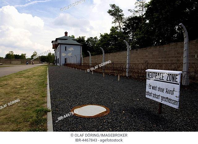 Neutral Zone or the death strip, Memorial Concentration Camp Sachsenhausen, Oranienburg, Brandenburg, Germany