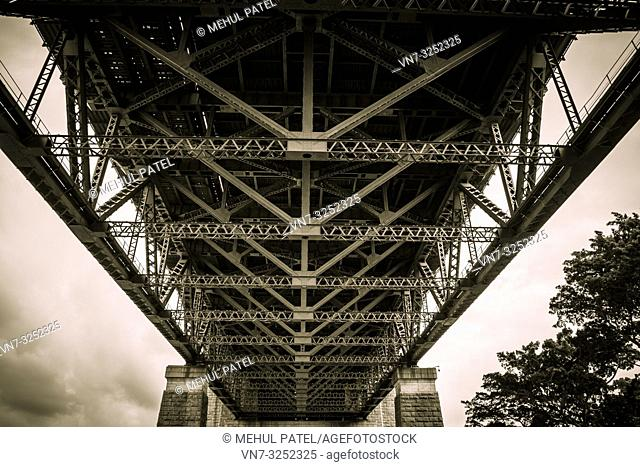 Underneath Sydney Harbour Bridge, Sydney, New South Wales, Australia