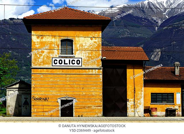 train station in Colico, province Lecco, Lombardy, Italy