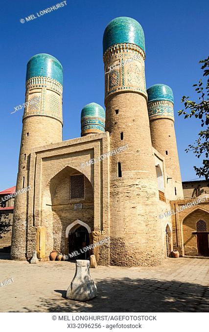 Chor Minor Madrasah, also known as Chor Minar Madrasah, Bukhara, Uzbekistan