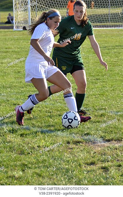 Girls High school soccer in Columbia, Maryland, USA