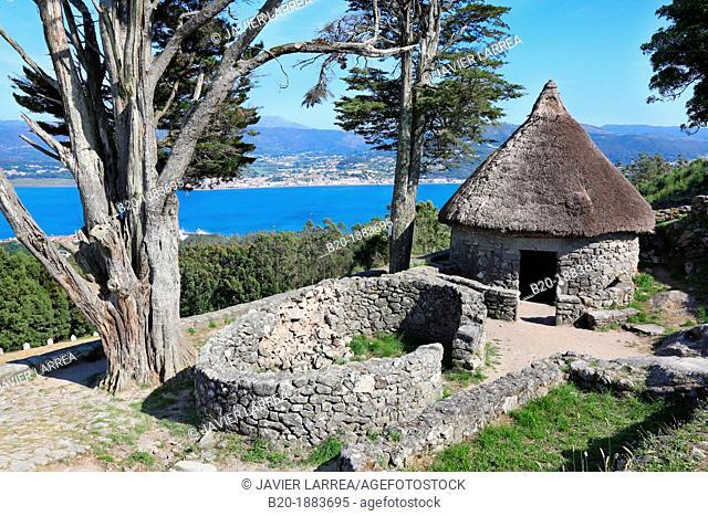 Castro of Santa Tegra, Iron Age village, A Guarda, Pontevedra, Galicia, Spain