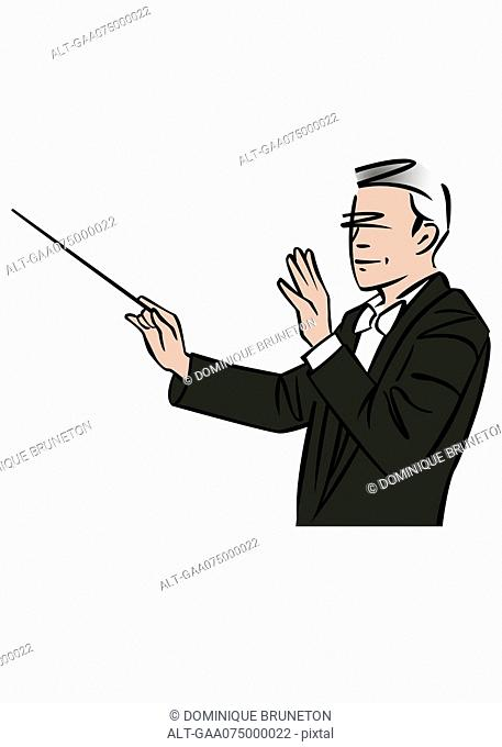 Illustration of a musical conductor