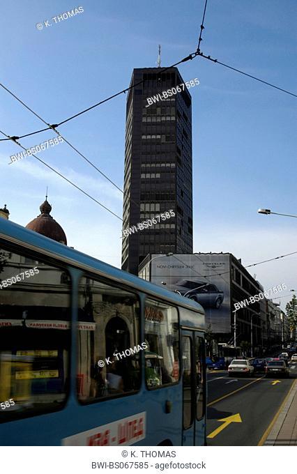 Beograd, office building Beogradjanka by architect Branko Pesic, Serbia-Montenegro, Belgrade