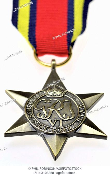 The Burma Star - Second World War medal instituted May 1945 for subjects of the British Commonwealth who served in the Second World War