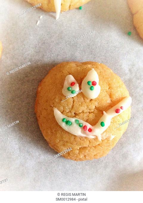 Hand Made Cookie with a smiley face