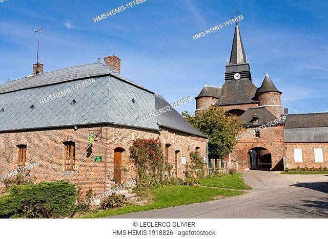 France, Aisne, Thierache region, fortified church of Parfondeval