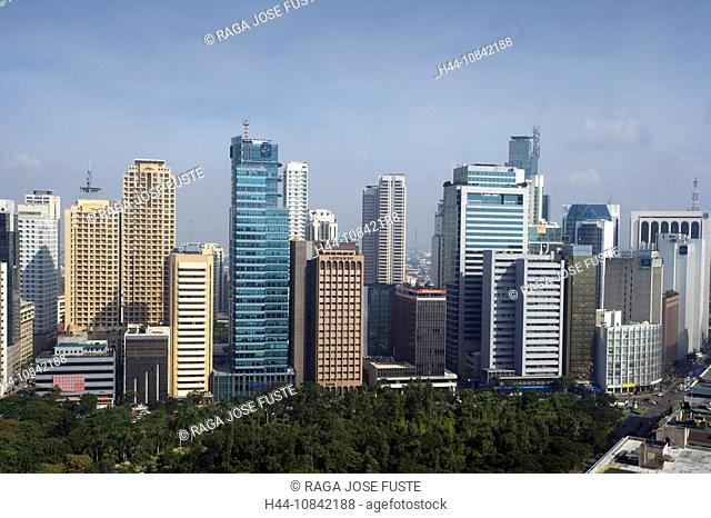 Philippines, Manila City, Makati District, Asia, Ayala Triangle, business district, town, Ayala Avenue, multinational