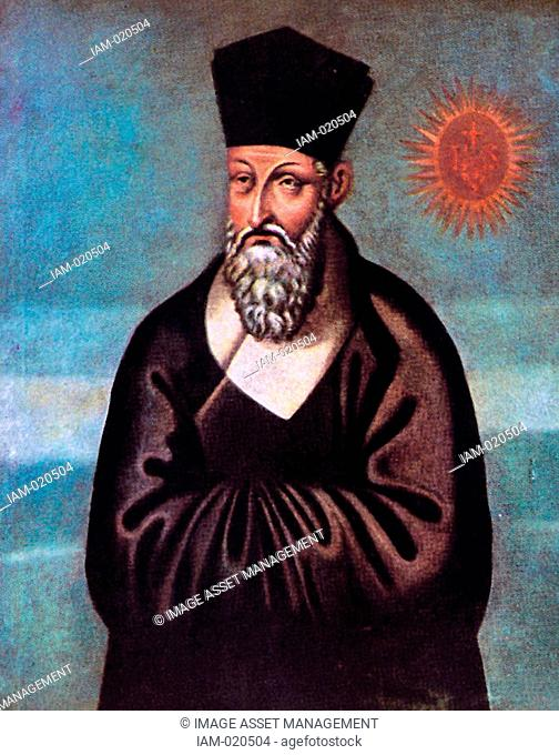 Jesuit missionary Matteo Ricci from Vincent Cronin's The Wise Man from the West. Painted in 1610 by the Chinese brother Emmanuel Pereira born Yu Wen-hui