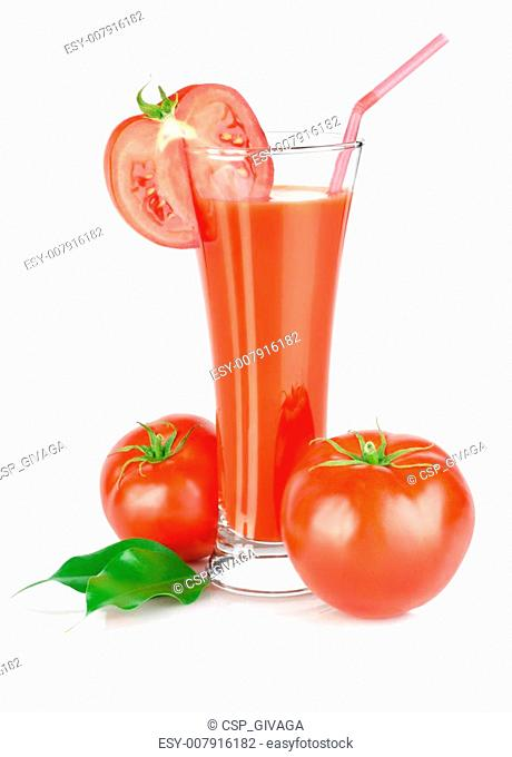 Tomato juice isolated