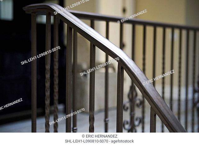 Detail wrought iron hand rail