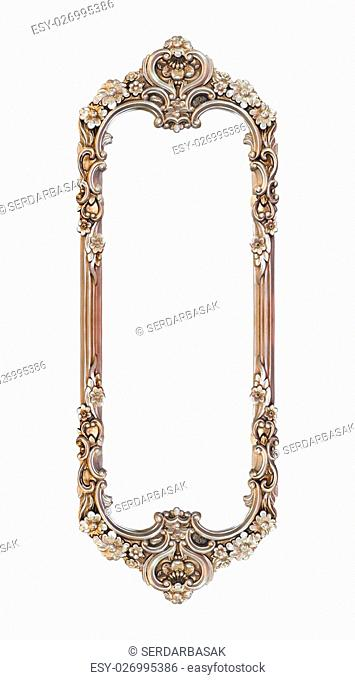 Handmade silver frame on a white background