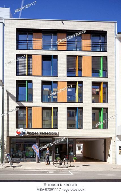 Modern colorful office building, Osnabrück, Lower Saxony, Osnabrück, Germany, Europe
