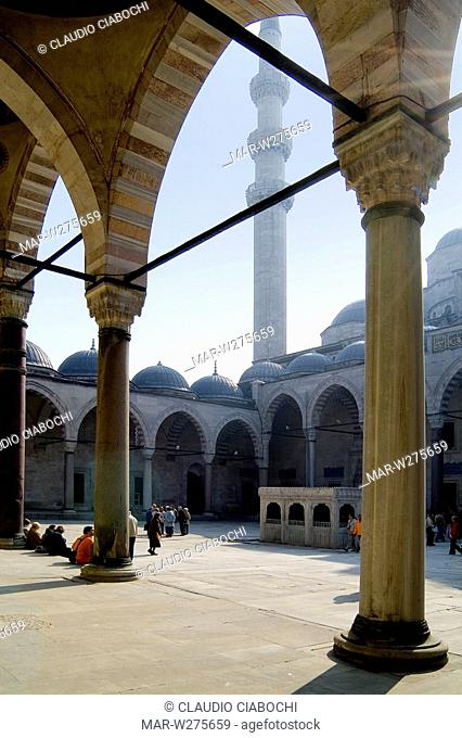 asia, turkey, istanbul, mosque of suleymaniye the magnificent