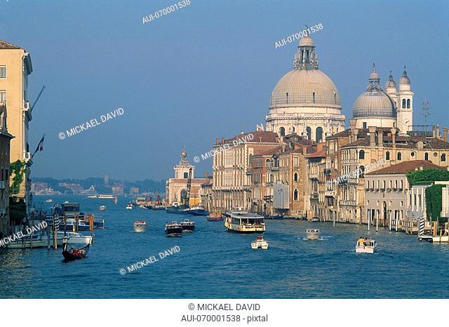Italy - Venice - view of the Grand Canal and Santa Maria Della Salute