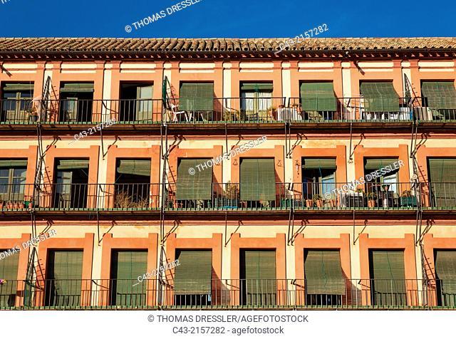 Apartments at the Plaza de la Corredera in Córdoba, Córdoba province, Andalusia, Spain