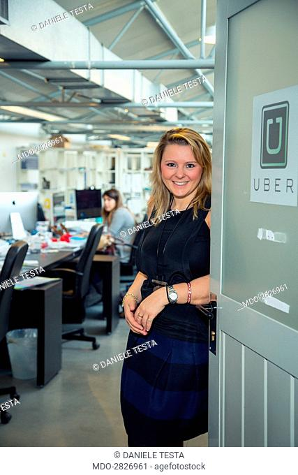 Benedetta Arese Lucini, young general manager for Uber Italy, which provides a car rent service with drivers in several Italian cities