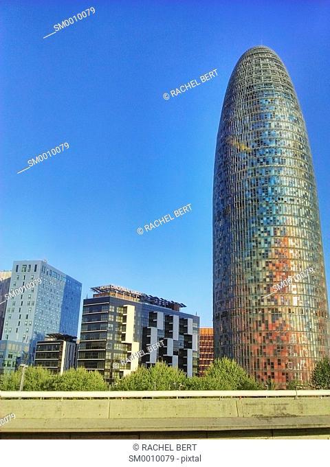 Plaça de les Glòries, view from the Glòries ring road before its demolition. Barcelona, Catalonia