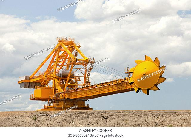 Coal moving machinary at Port Waratah in Newcastle which is the worlds largest coal port Coal from open cast coal mines in the Hunter Valley is exported around...