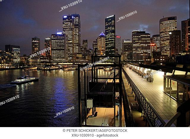Cruise terminal and Skyline in Sydney, New South Wales, Australia