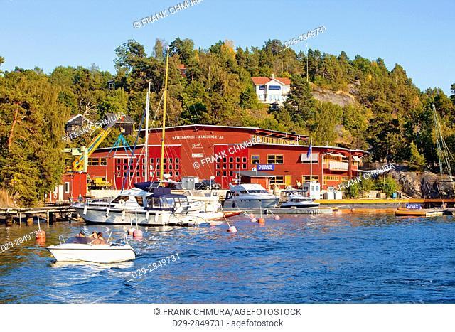 Sweden, Stockholm Archipelago - Yacht Marina in Skurusund