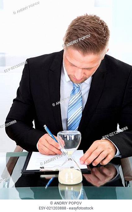 Businessman under time pressure
