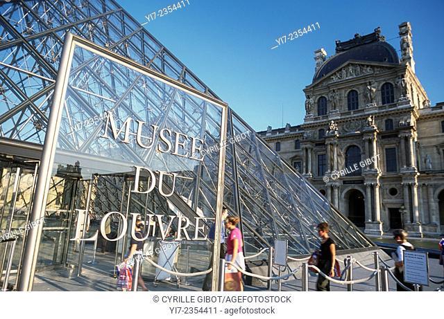 Entrance to the Louvre Museum, Paris, France