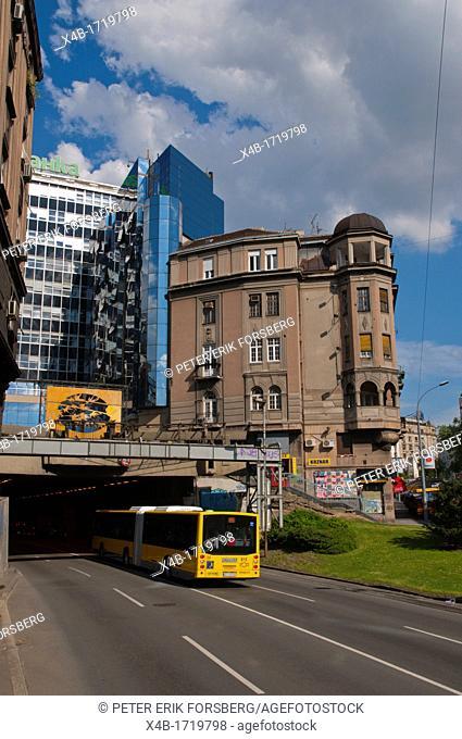 Brankova street central Belgrade Serbia Europe