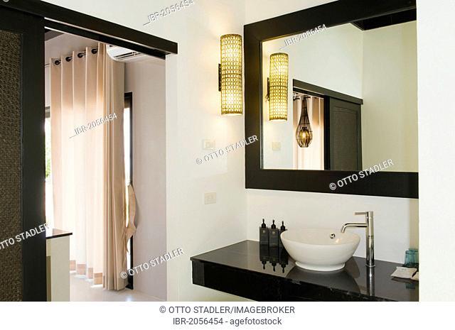 Bathroom in a luxury bungalow, The Sevenseas Resort, Ko Kradan, Koh Kradan, Trang, Thailand, Southeast Asia, Asia