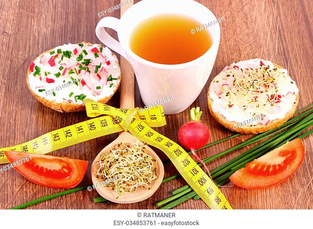 Outstanding Tea Tape Measure Weight Loss Stock Photos And Images Age Download Free Architecture Designs Scobabritishbridgeorg