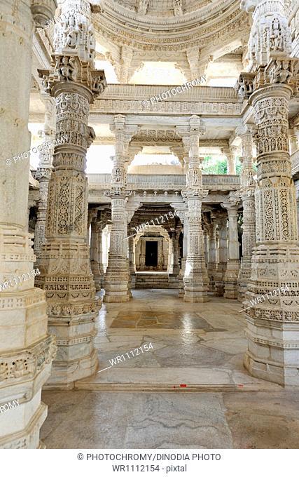 Adinath Jain Temple Ranakpur Rajasthan India Asia June 2010