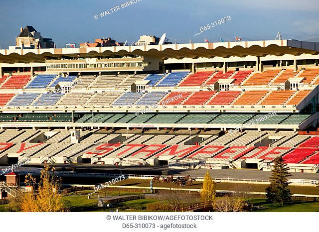 Stampede Park arena in morning. Calgary. Alberta, Canada